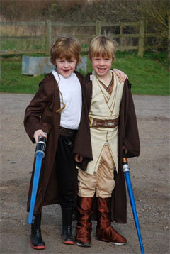 Children's Star Wars themed Birthday parties organised and planned by SN2R Ltd