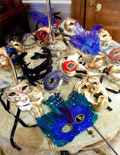 Venetian masked ball themed private celebrations and themed corporate parties